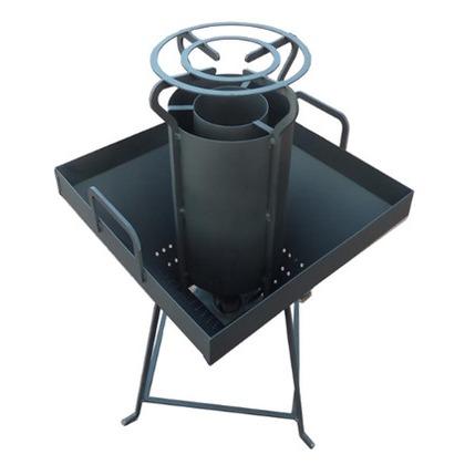 スノーカモシカ もみ殻奉行II 耐熱黒塗装 W450×D450×H535 DA-001 もみ殻 燻炭 かまど