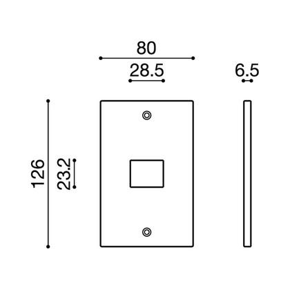 ウエスト/WEST スイッチプレート アルミシルバー 12S-N0000-SA 電源 電気 装飾