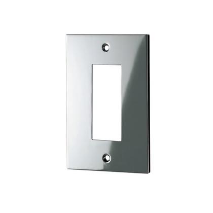 ウエスト/WEST スイッチプレート 鏡面シルバー 34S-N0000-SC 電源 電気 装飾