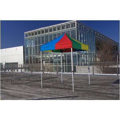 かんたんてんと3(スチール&アルミ複合フレーム) 赤 1.8m×1.8m KA/1W テント ワンタッチ イベント