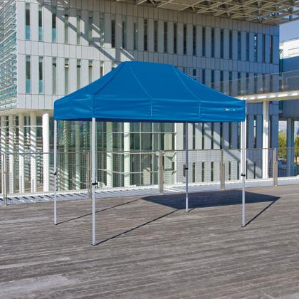 かんたんてんと3(スチール&アルミ複合フレーム) 青/白 1.8m×2.7m KA/1.5W テント ワンタッチ イベント
