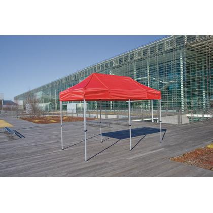 かんたんてんと3(スチール&アルミ複合フレーム) 赤/白 1.8m×3.6m KA/2W テント ワンタッチ イベント