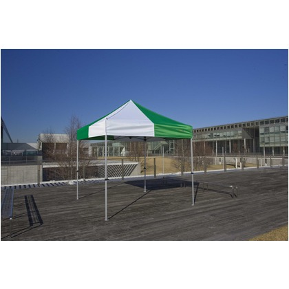 かんたんてんと3(スチール&アルミ複合フレーム) オレンジ 2.4m×2.4m KA/3W テント ワンタッチ イベント