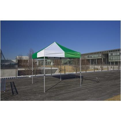 かんたんてんと3(スチール&アルミ複合フレーム) 緑/白 2.4m×2.4m KA/3W テント ワンタッチ イベント