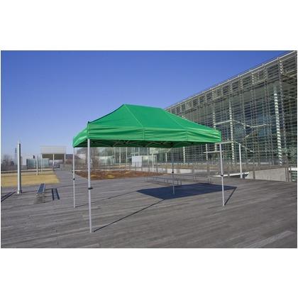 かんたんてんと3(スチール&アルミ複合フレーム) 緑/白 2.4m×3.6m KA/4W テント ワンタッチ イベント