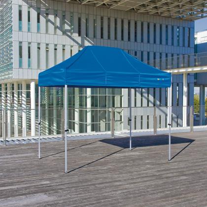 かんたんてんと3(オールアルミフレーム) 水色(オプション色) 1.8m×2.7m KA/1.5WA テント ワンタッチ イベント