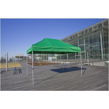 かんたんてんと3(オールアルミフレーム) 黄緑(オプション色) 2.4m×3.6m KA/4WA テント ワンタッチ イベント