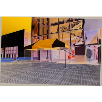 かんたんてんと3(オールアルミフレーム) 黄緑(オプション色) 2.4m×4.8m KA/5WA テント ワンタッチ イベント