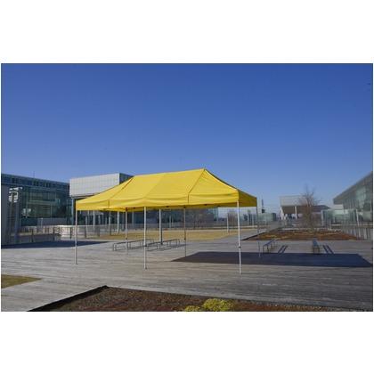 かんたんてんと3(オールアルミフレーム) 黄緑(オプション色) 3.0m×6.0m KA/8WA テント ワンタッチ イベント