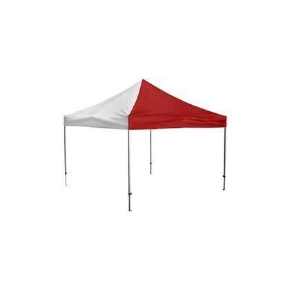 かんたんてんと3(スチール&アルミ複合フレーム) 赤/白 3.6m×3.6m KA/9W テント ワンタッチ イベント