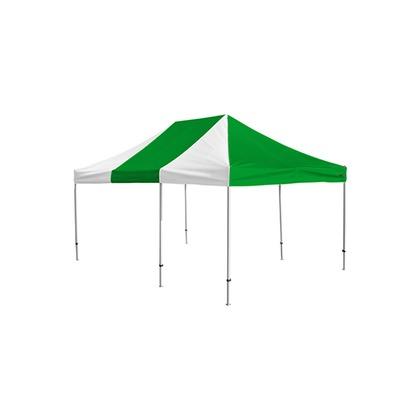 かんたんてんと3(スチール&アルミ複合フレーム) 緑/白 3.6m×5.4m KA/10W テント ワンタッチ イベント