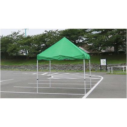 かんたんてんと3メッシュタイプ(スチール&アルミ複合フレーム) グリーン 2.4m×2.4m KA/3WM テント ワンタッチ イベント
