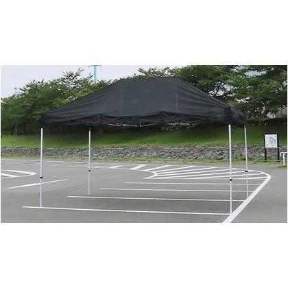 かんたんてんと3メッシュタイプ(スチール&アルミ複合フレーム) ブラック 3.0m×4.5m KA/7WM テント ワンタッチ イベント