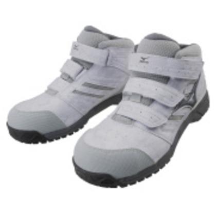 ミズノ 作業靴 オールマイティLSミッドカットタイプ ライトグレー×ダークグレー×グレー 24.0cm C1GA180205240