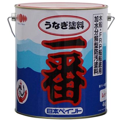 日本ペイントマリン うなぎ塗料一番 ブルー 4kg 1缶