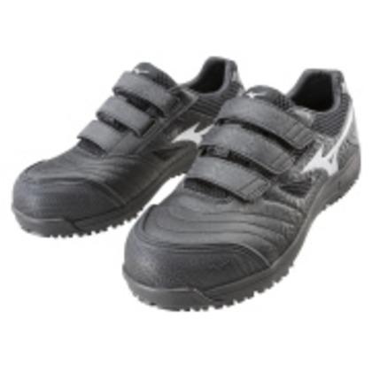 ミズノ 作業靴 オールマイティFF ブラック×シルバー 27.5cm C1GA180109275