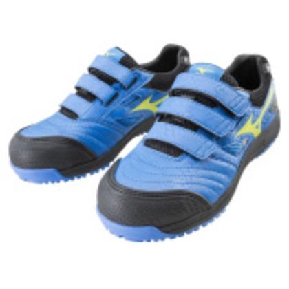ミズノ 作業靴 オールマイティFF ブルー×イエロー×ブラック 27.5cm C1GA180127275