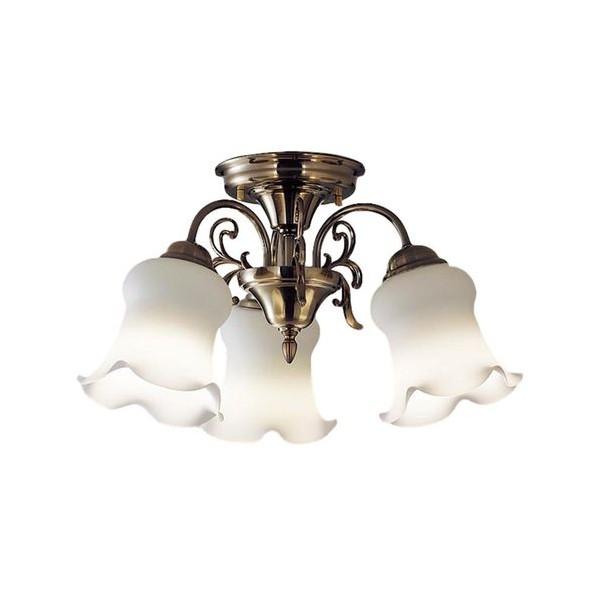 パナソニック LED シャンデリア 天井直付型 40形 ×3 電球色 長さ (cm):57.5.幅(cm):52.1.高さ(cm):27.3 LGB57314K