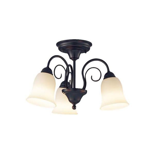 パナソニック LED シャンデリア 天井直付型 60形 ×3 電球色 長さ (cm):58.1.幅(cm):48.7.高さ(cm):37.8 LGB57345K