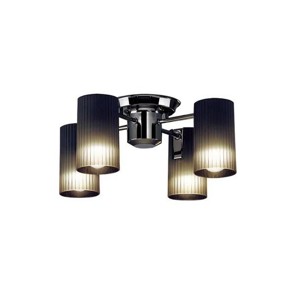 パナソニック LED シャンデリア 天井直付型 40形 ×4 電球色 長さ (cm):45.5.幅(cm):45.5.高さ(cm):24 LGB57451K