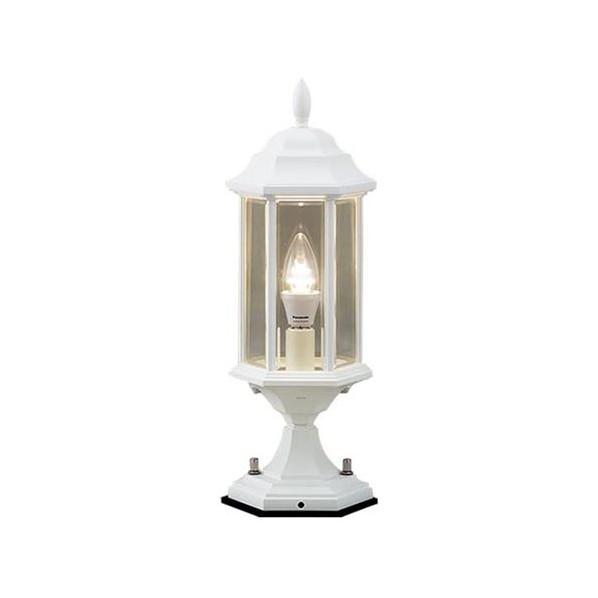 パナソニック 門柱灯(ホワイト) 長さ (cm):14.7.幅(cm):14.7.高さ(cm):41.2 LGW56905W