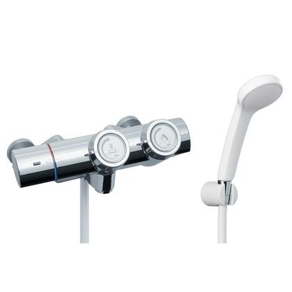 LIXIL プッシュ式シャワーバス水栓      21×36×27 RBF-815 LIXIL INAX イナックス 浴室用 バス 風呂 混合水栓 混合栓 水栓 水栓金具 サーモ サー