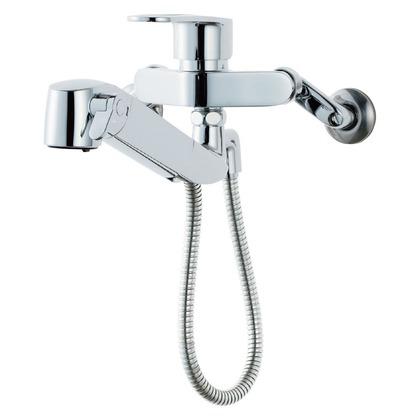LIXIL 壁付浄水器内蔵型キッチン水栓     15.5×46×10 RJF-865YN LIXIL INAX イナックス キッチン 台所 台所用 混合栓 水栓 水栓金具 浄水 浄水器 浄水