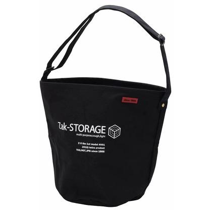 Zak-STORAGE セール 特集 在庫一掃 クロスバケット丸 L ブラック 約 CBC-100LB 幅285×高さ355×底面Φ260mm