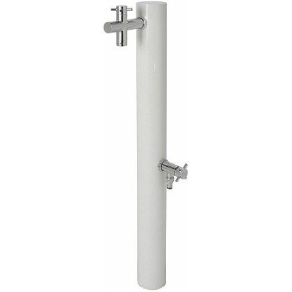 SENSUI(泉水) ウォーターポスト2口(水栓柱) ホワイト φ89.1×H1180mm 325W ガーデン水栓