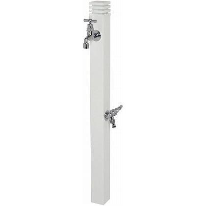 SENSUI(泉水) SORIN(ソーリン)2口 水栓柱 ホワイト W65×D65×H1155mm 368W ガーデン水栓