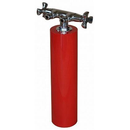 SENSUI(泉水) ウォーターポール散水栓 ツイン レッド φ76.3×H638mm 358R ガーデン水栓