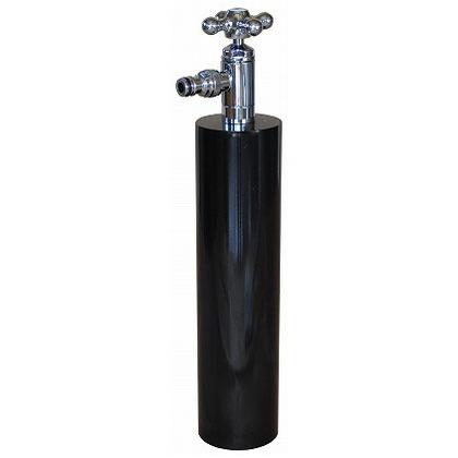 SENSUI(泉水) ウォーターポール散水栓 ターン ブラック φ76.3×H687mm 359B ガーデン水栓