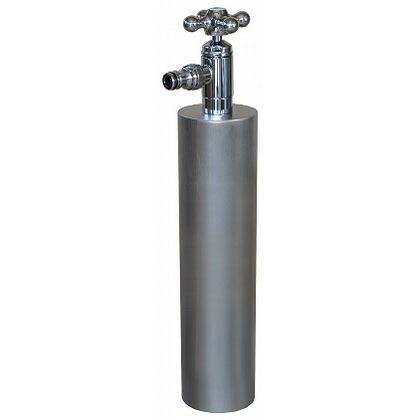 SENSUI(泉水) ウォーターポール散水栓 ターン ヘアライン φ76.3×H687mm 359H ガーデン水栓