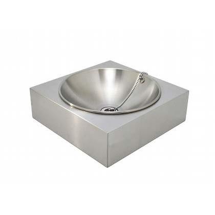SENSUI(泉水) アールパンSスクエアー(水鉢) ヘアライン