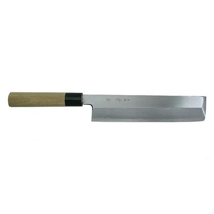 関兼常 本匠 兼正 Gシリーズ 霞研 水牛口付 朴柄 和包丁 薄刃 刃渡り165mm G-16