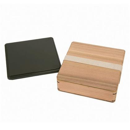 三好製作所 mWood(ムード) ランチボックス お重 保冷フタ付き 茶 約 幅17.8×奥行17.8×高さ6(cm)