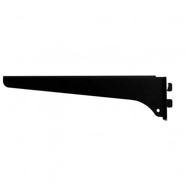 星川金属 ファッション棚受 木棚用 右 並行輸入品 卸直営 長さ:250mm 黒 1個