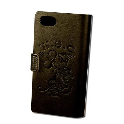 Workson WSCレザーアイフォンケース チャコール H140mm×W80mm×D15mm iPhoneケース ミッキーマウス ディズニー