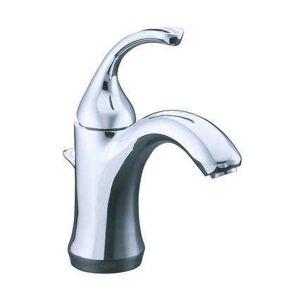フォルテ シングルレバー洗面用混合栓(引棒・台座付) ポリッシュドクローム H216 吐水口長さ130 K-10215-4-CP