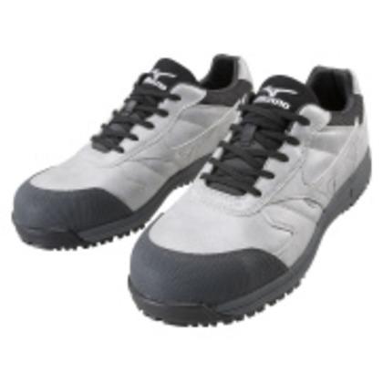 ミズノ 作業靴 オールマイティWF グレー×ブラック 25.0cm C1GA180005250