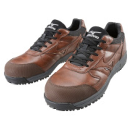 ミズノ 作業靴 オールマイティWF ブラウン×ブラック 28.0cm C1GA180055280