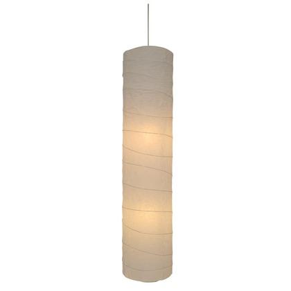 彩光デザイン 日本製和紙照明 大型和風照明 吹き抜け用ペンダントライト stick 揉み紙 Φ280mm×H1240mm SDPN-204