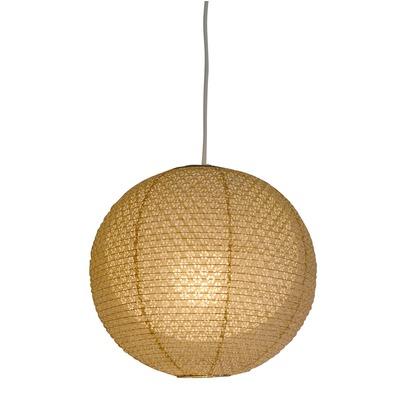 彩光デザイン 日本製和紙照明 和風照明 1灯ペンダントライト 二重提灯 bud 電球別売 小梅茶in小梅白 Φ350×H320 SPN1-1101
