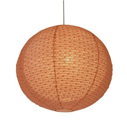 彩光デザイン 日本製和紙照明 和風照明 1灯ペンダントライト 二重提灯 bud 電球別売 麻葉煉瓦in麻葉白 Φ350×H320 SPN1-1101