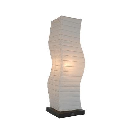 彩光デザイン 日本製和紙照明 和風照明フロアランプ kuku 揉み紙 W190mm×D190mm×H710mm SF-2071