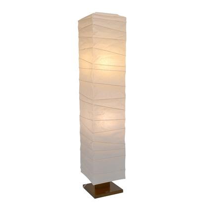 彩光デザイン 日本製和紙照明 大型和風照明 フロアスタンド arrow 揉み紙 W270mm×D270mm×H1340mm D-201