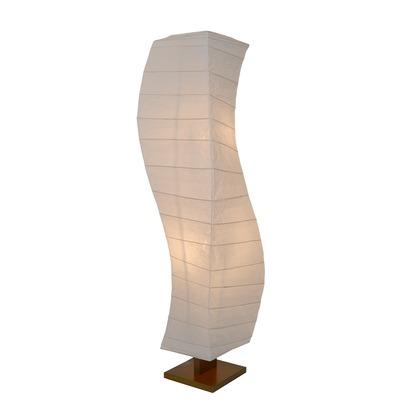 彩光デザイン 日本製和紙照明 大型和風照明 フロアスタンド flow 揉み紙 W270mm×D270mm×H1340mm D-202
