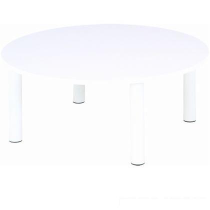フジボウエキ 丸テーブル エレン ホワイト W800xD800xH330 10902 丸テーブル・カジュアル・PU塗装