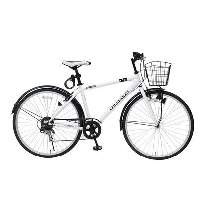 シボレー 700Cクロスバイク 6段ギア ホワイト MG-CV7006F-RL CHEVROLET CROSSBIKE700C6SF 自転車