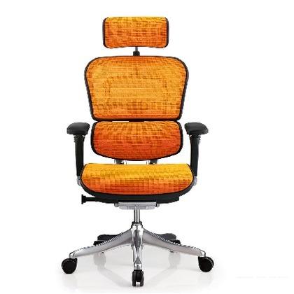 エルゴヒュ-マン プロ ハイタイプ オレンジ 3Dファブリックメッシュ 幅655×奥行き660×高さ1145(mm) EHP-HAM KMD-33 オフィスチェア